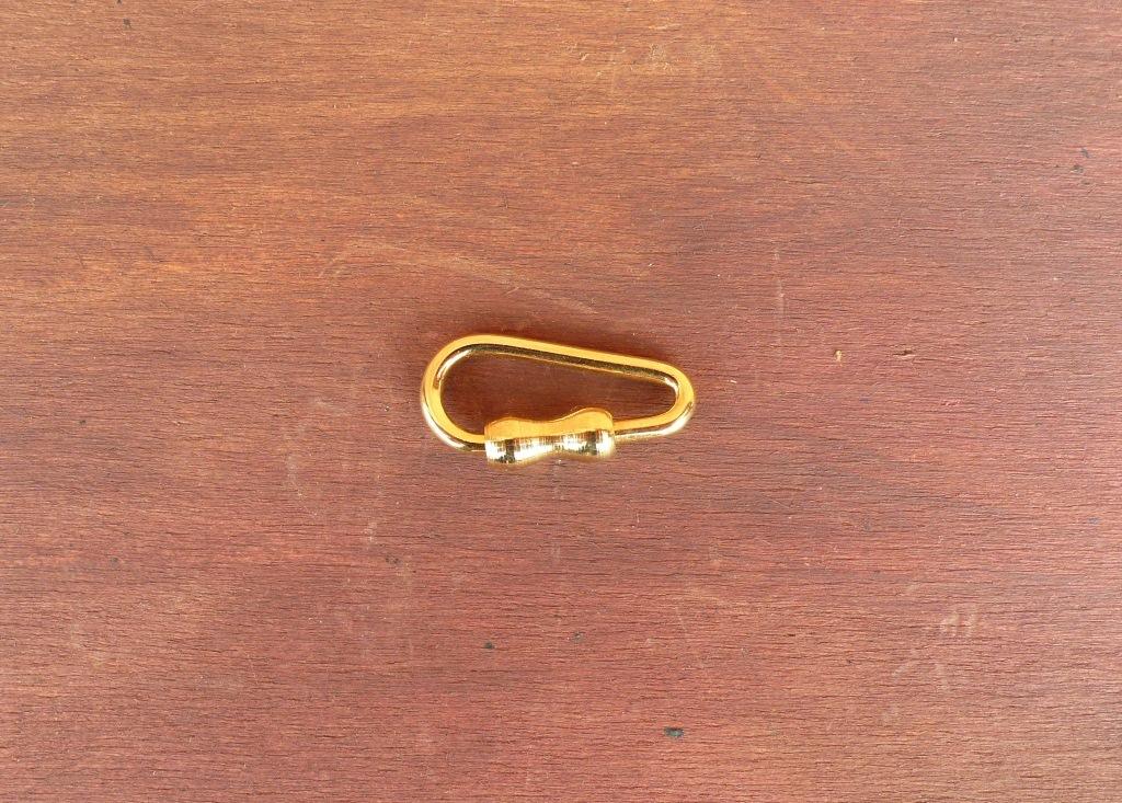 Moschettone Mini. Colore Oro.