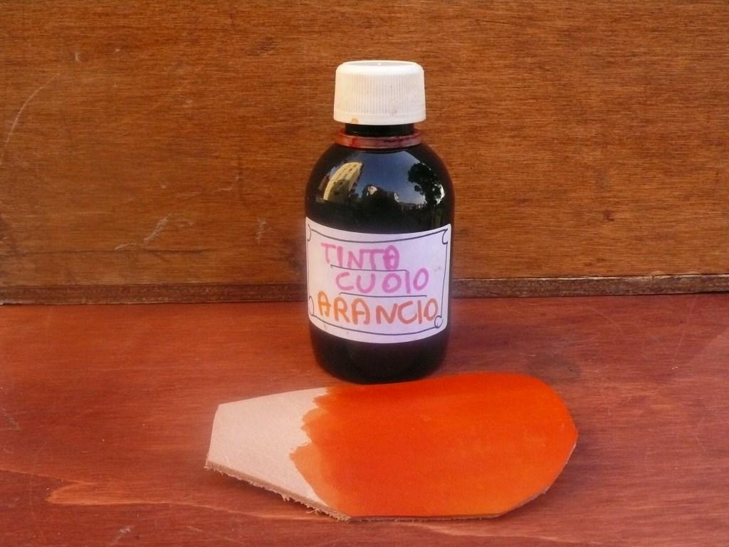 Tinta per Il Cuoio Colore Arancio