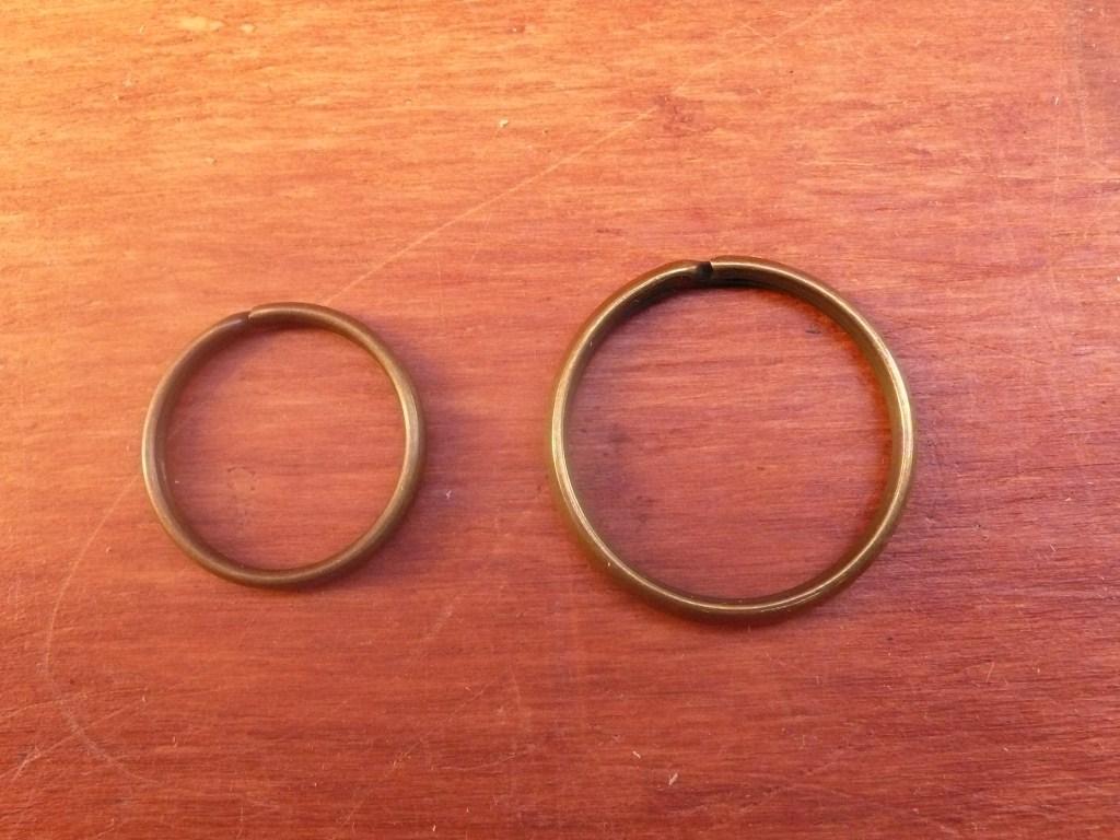 Anello a Spirale da 2,0 Cm. Colore Ottone Vecchio